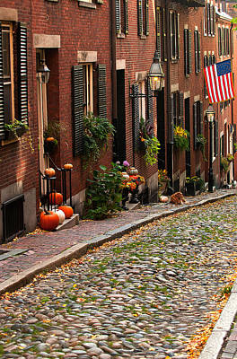 Photograph - Historic Acorn Street by Paul Mangold