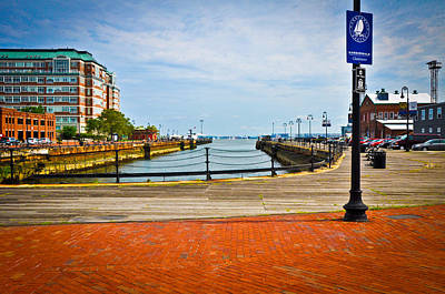 Historic Boston Boardwalk Art Print by Erica McLellan