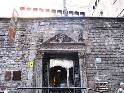 Photograph - Historic Building Casa De Ardiaca Entrance View In Barcelona Spain by John Shiron