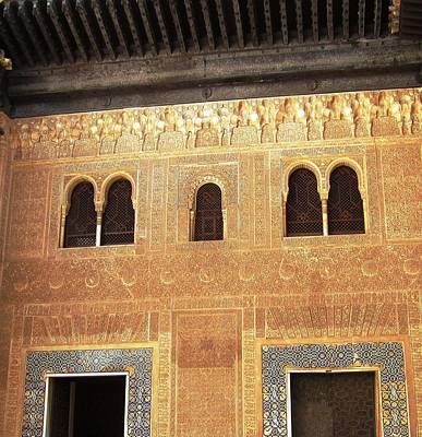 Photograph - Historic Building With Arabic Design Granada Spain by John Shiron