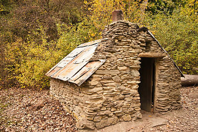 Photograph - Historic Gold Miners Stone Cottage by Graeme Knox