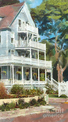 Historic Harbour View Inn B And B Mackinac Island Michigan Art Print by Anne Kitzman