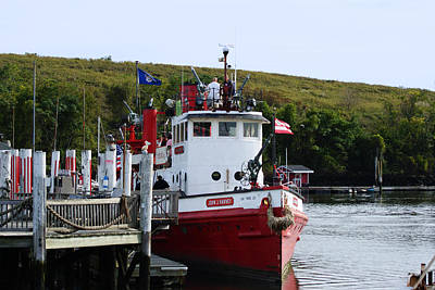 Photograph - Historic J J Harvey Fireboat 1931 by Margie Avellino