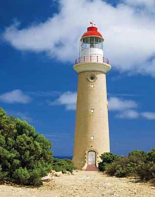 Historic Lighthouse At Cape Du Couedic In Flinders Chase National Park, Kangaroo Island, South Australia Art Print by Peter Walton Photography