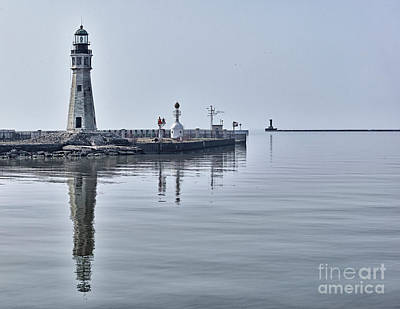 Historic Lighthouse On Lake Erie Art Print by Phil Pantano