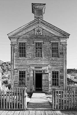 One Room School Houses Photograph - Historic Masonic Lodge 3777 In Bannack Montana Ghost Town by Daniel Hagerman