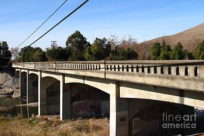 Historic Niles District In California Near Fremont . Bridge Into Niles District . 7d10596 Art Print