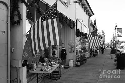 Historic Niles District In California Near Fremont . Main Street . Niles Boulevard . 7d10692 . Bw Art Print by Wingsdomain Art and Photography