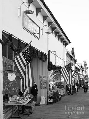 Historic Niles District In California Near Fremont . Main Street . Niles Boulevard . 7d10693 . Bw Art Print by Wingsdomain Art and Photography