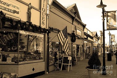 Historic Niles District In California Near Fremont . Main Street . Niles Boulevard . 7d10701 . Sepia Art Print by Wingsdomain Art and Photography