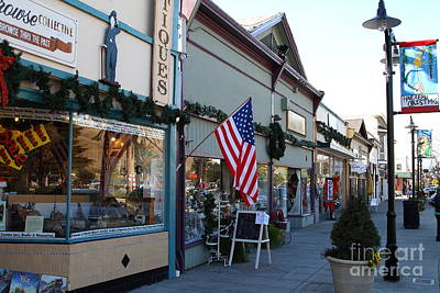Historic Niles District In California Near Fremont . Main Street . Niles Boulevard . 7d10701 Art Print by Wingsdomain Art and Photography