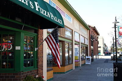 Historic Niles District In California Near Fremont . Main Street . Niles Boulevard . 7d10706 Art Print by Wingsdomain Art and Photography