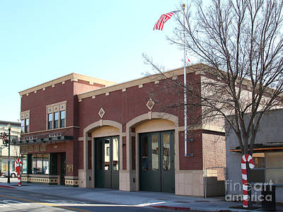 Historic Niles District In California Near Fremont . Niles Fire Station Number 2 . 7d10732 Art Print