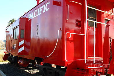 Historic Niles District In California Near Fremont . Western Pacific Caboose Train . 7d10720 Art Print