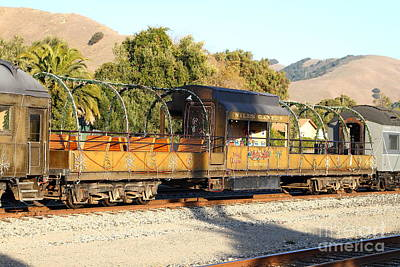 Historic Niles Trains In California . Old Niles Canyon Train . 7d10840 Art Print