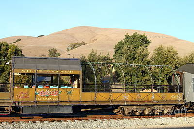 Historic Niles Trains In California . Old Niles Canyon Train . 7d10845 Art Print