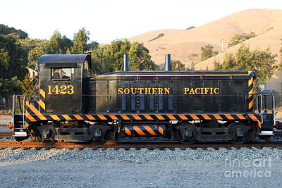 Historic Niles Trains In California . Old Southern Pacific Locomotive . 7d10867 Art Print