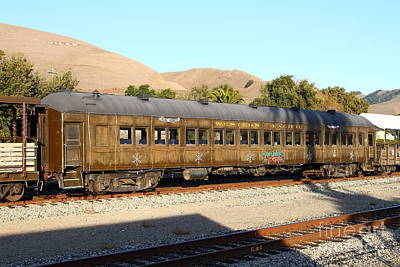 Historic Niles Trains In California . Old Western Pacific Passenger Train . 7d10836 Art Print