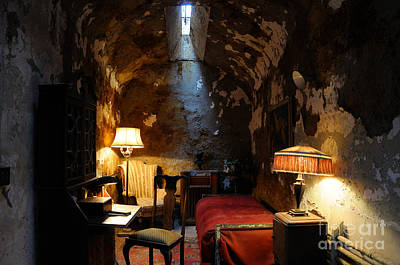 Chipping Paint Photograph - Historic Prison Cell Of Al Capone by Gary Whitton
