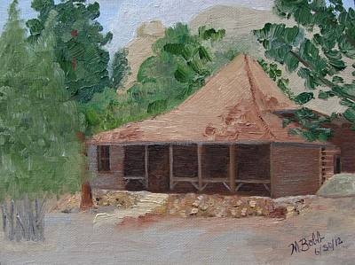Painting - Historic Rockside Cabin by Margaret Bobb