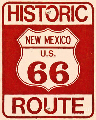 Historic Route 66 New Mexico Art Print by Wingsdomain Art and Photography