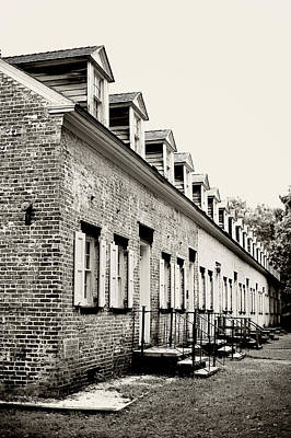 Photograph - Historic Row Homes Allaire Village by Terry DeLuco