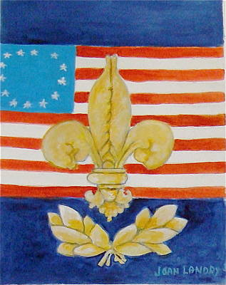 Historic Symbols Art Print by Joan Landry