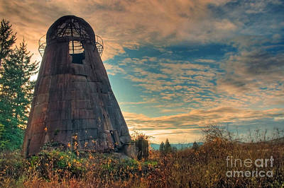 Photograph - Historic Wigwam In The Sunset by Tyra  OBryant