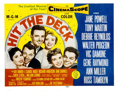Hitting Deck Photograph - Hit The Deck, Ann Miller, Tony Martin by Everett