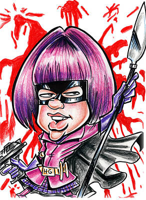 Justice League Drawing - Hitgirl by Big Mike Roate