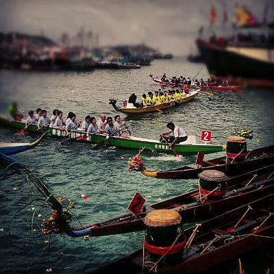 Dragon Photograph - #hk#scenery#culture#dragon#boat#race by Cheryl Cheung