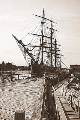 Maine Bounty Photograph - Hms Bounty At The Dock by Doug Mills