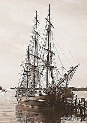 Maine Bounty Photograph - Hms Bounty by Doug Mills