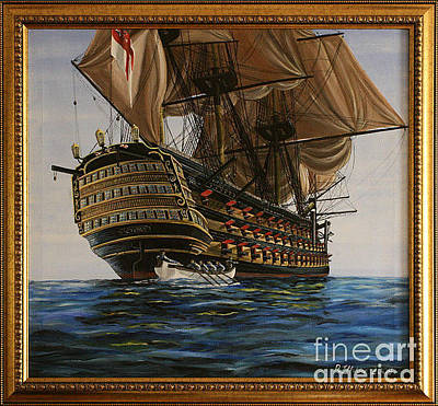 Painting - Hms Victory by Rich Holden