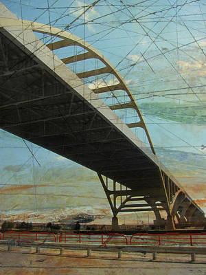 Digital Art - Hoan Bridge And Artboard by Anita Burgermeister