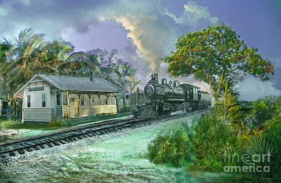 Digital Art - Hobe Sound Railroad Station by Richard Nickson
