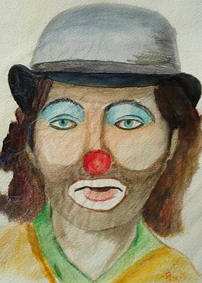 Painting - Hobo Clown by Betty Pimm