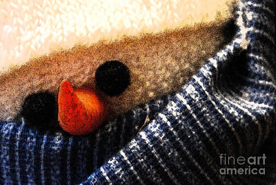 Photograph - Hobo Snowman Closeup IIi by Jani Freimann