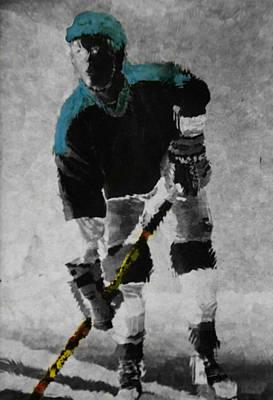 Hockey Dude Art Print by Kenneth Drylie