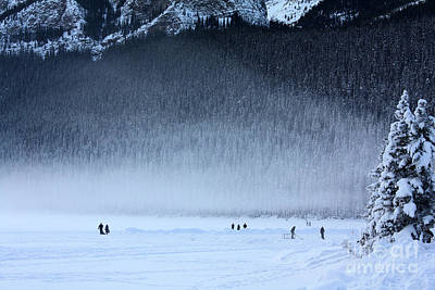 Photograph - Hockey On Lake Louise by Alyce Taylor