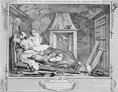 Mess Photograph - Hogarth: Idle Prentice by Granger