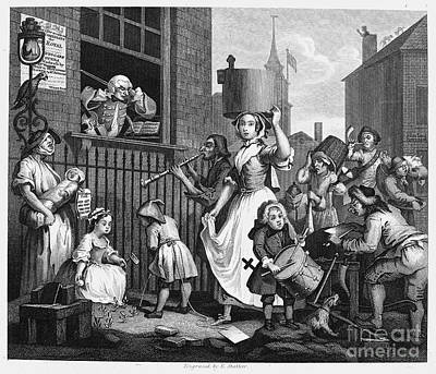 Hogarth: Musician, 1741 Art Print by Granger