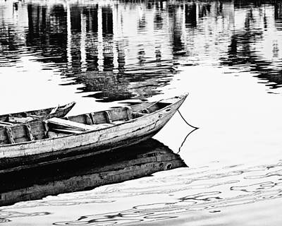 Tranquil Scene Photograph - Hoi An Fishing Boats by Skip Nall