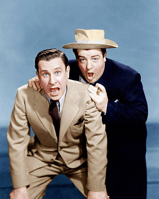 Jb Photograph - Hold That Ghost, From Left Bud Abbott by Everett