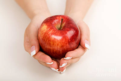 Photograph - Holding Apple by Kati Finell
