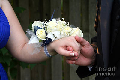 Photograph - Holding Hand With Wrist Corsage by Susan Stevenson