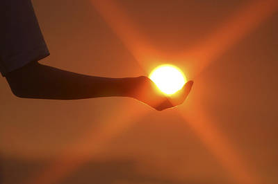 Photograph - Holding The Sun by Sandra Sigfusson