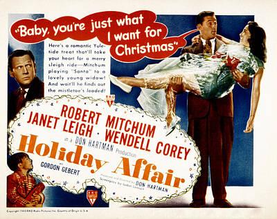 Photograph - Holiday Affair, Robert Mitchum, Janet by Everett