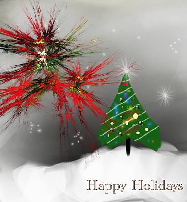 Digital Art - Holiday Card 2011a by David Lane
