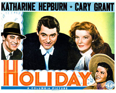 Photograph - Holiday, From Left Cary Grant by Everett